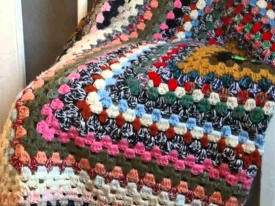 Vintage Crochet Blanket -  Photos Decoration