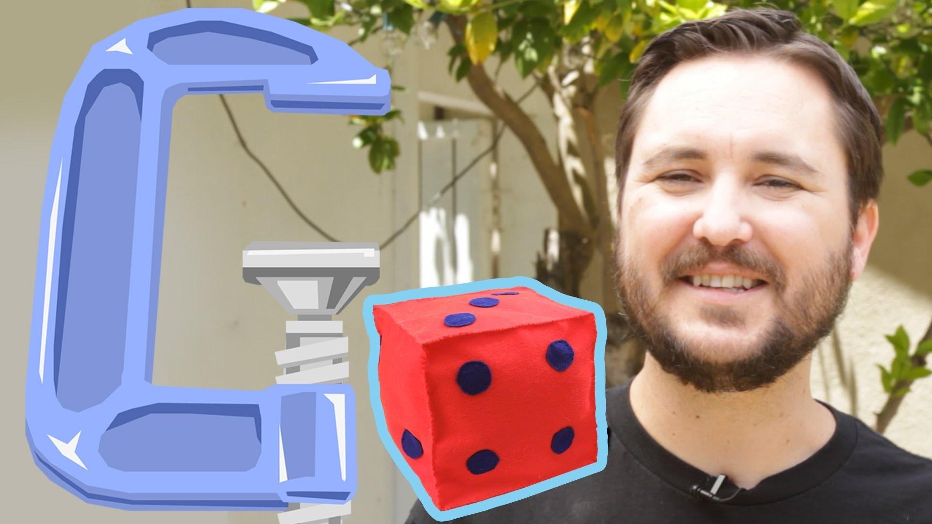 Wil Wheaton makes Dice Pillows - Geek DIY - Ep3