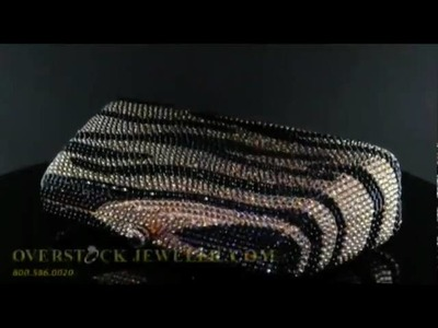 Austrian Crystal Tiger Print Evening Bag