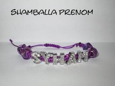 ❤ D.I.Y TUTO SHAMBALLA PRENOM BRACELET SHAMBALLA PRENOM STRASS LE TOP ; HOW MAKE NAME SHAMBALLA