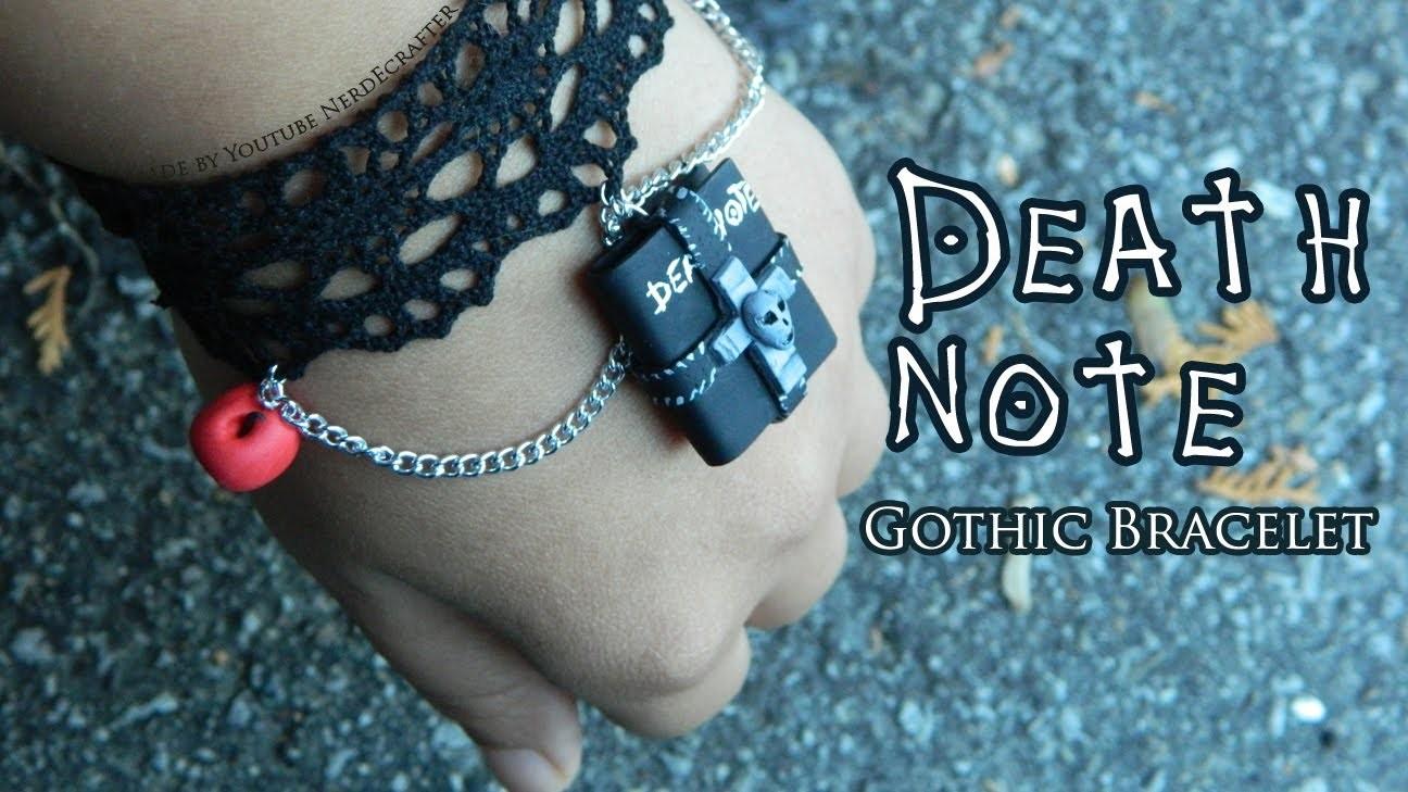 Death Note Gothic Bracelet Polymer Clay Tutorial. Arcilla Polimérica
