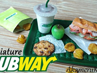 Fastfood Colab: Subway inspired polymer clay miniature