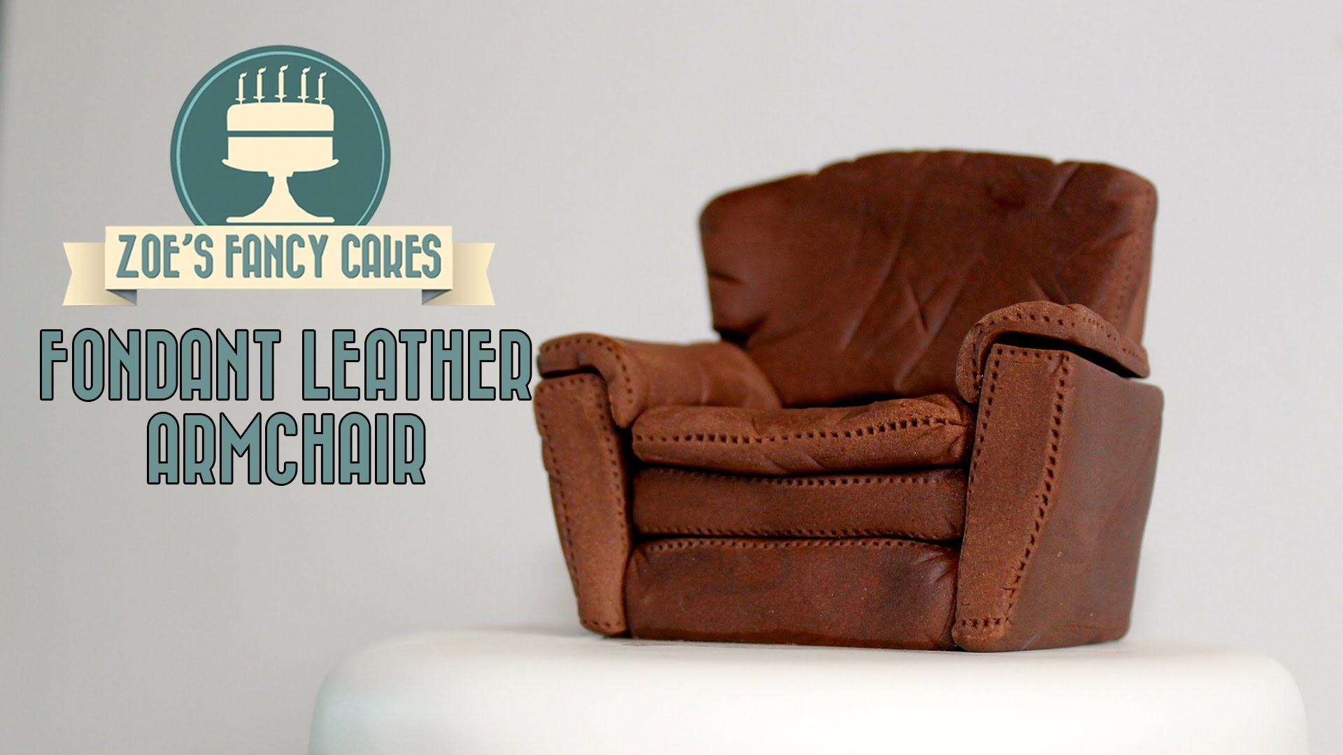 Fondant arm chair and sofa How To Cake Decorating Tutorial video