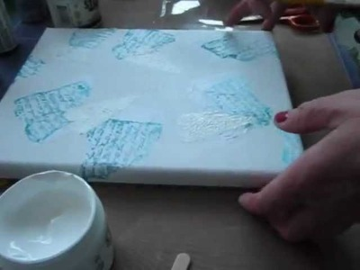 How to create a mixed media canvas part 1