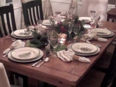 How to decorate table for christmas