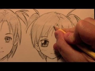 How to Draw a Manga Face, 3 Different Ways [HTD Video #9]