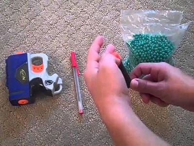How to make a mini airsoft gun with just a nerf gun