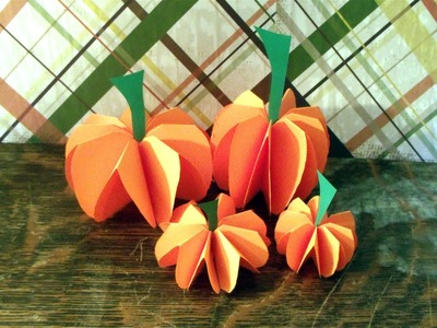 How to make a paper pumpkin decorations or centerpiece