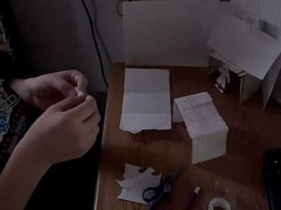 How to make a Paper Soccer Net (with goalie)