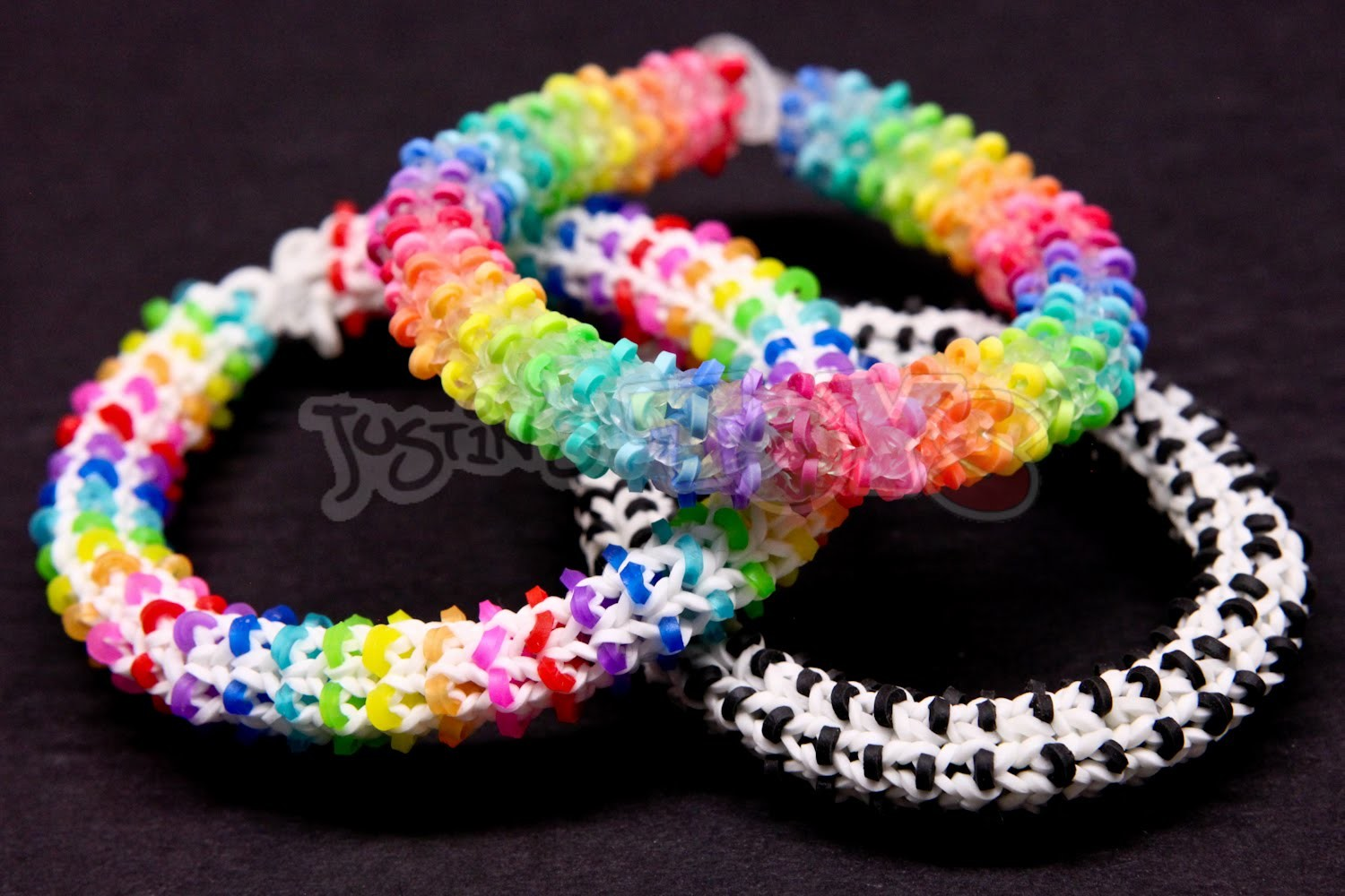 How to Make a Rainbow Loom HEXADOTS Bracelet - Switch Loop Hexafish - HARD