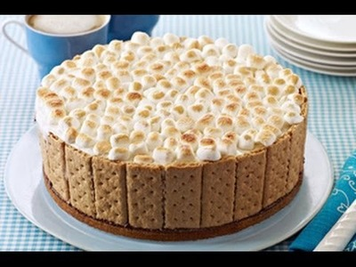 How to Make a S'mores Ice-Cream Cake