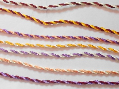 How to  make a swirl friendship bracelet - no knots required! easy beginner