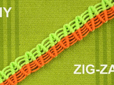 How to Make a ZigZag Macrame Bracelet. Tutorial