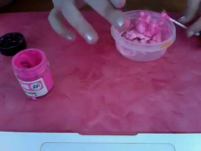 How to make mini fake cotton candy