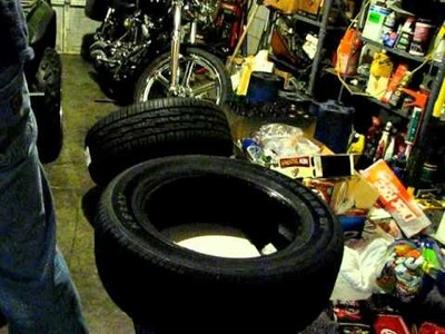How to mount a tire without using any tools
