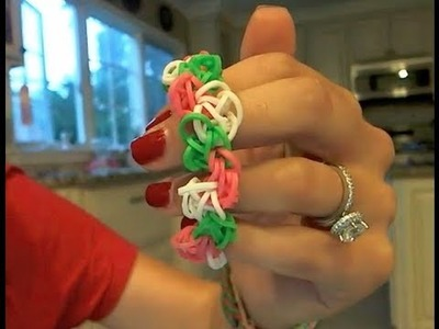 How To Rainbow Loom Tutorial Zig Zag Pom Pom Bracelet