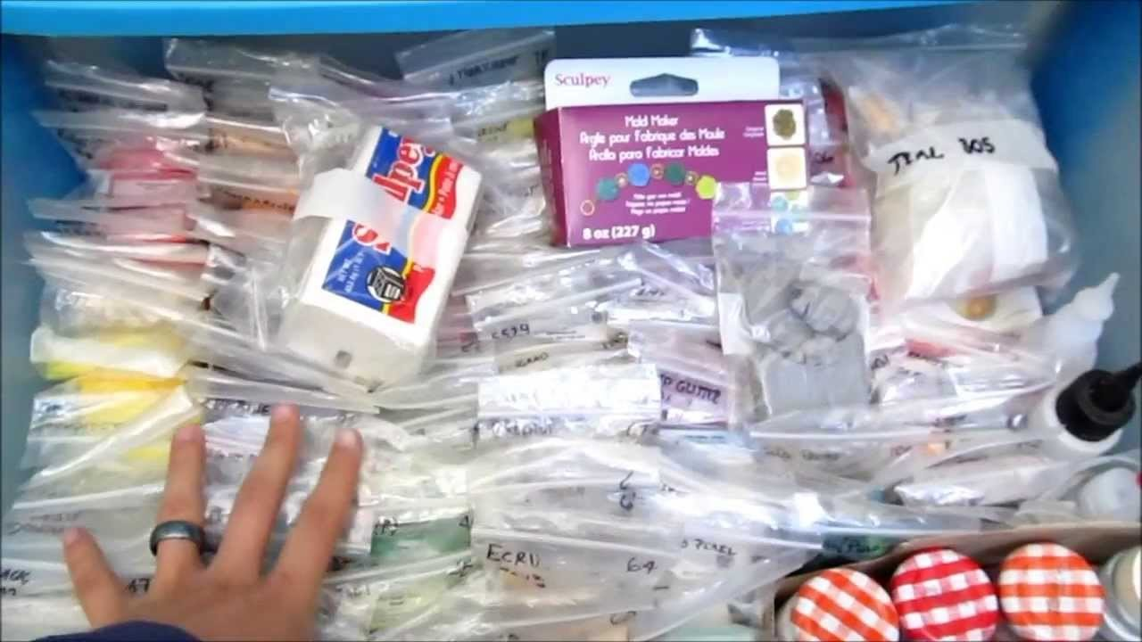 How to store your polymer clay, supplies, toos, etc.