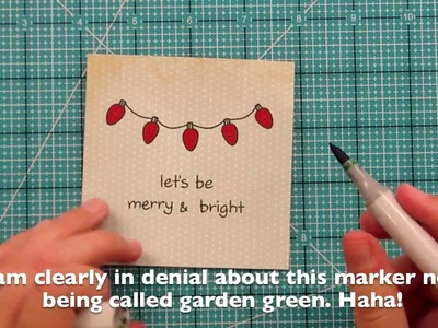 Lawn Fawn: Let's Be Merry & Bright Christmas card