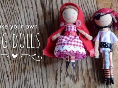 Make your own peg dolls