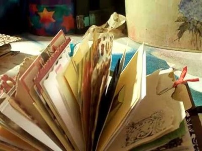 Mini Junk Journal full of goodies flip through