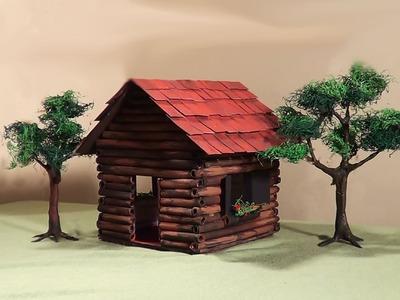 Miniatura (diorama) - Casa de madeira - Miniature Wooden House - Part 1
