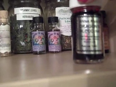 My herbs, oils and crystals!!!