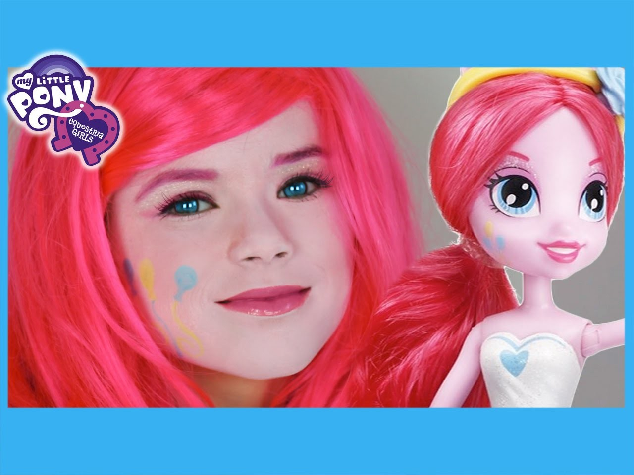 My Little Pony Pinkie Pie Makeup Tutorial! Equestria Girls Doll Cosplay | Kittiesmama