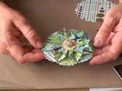 Nestabilities, scalloped circle die,  folded pop-up flower # 2