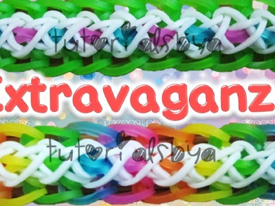 NEW Extravaganza Bracelet Rainbow Loom Tutorial