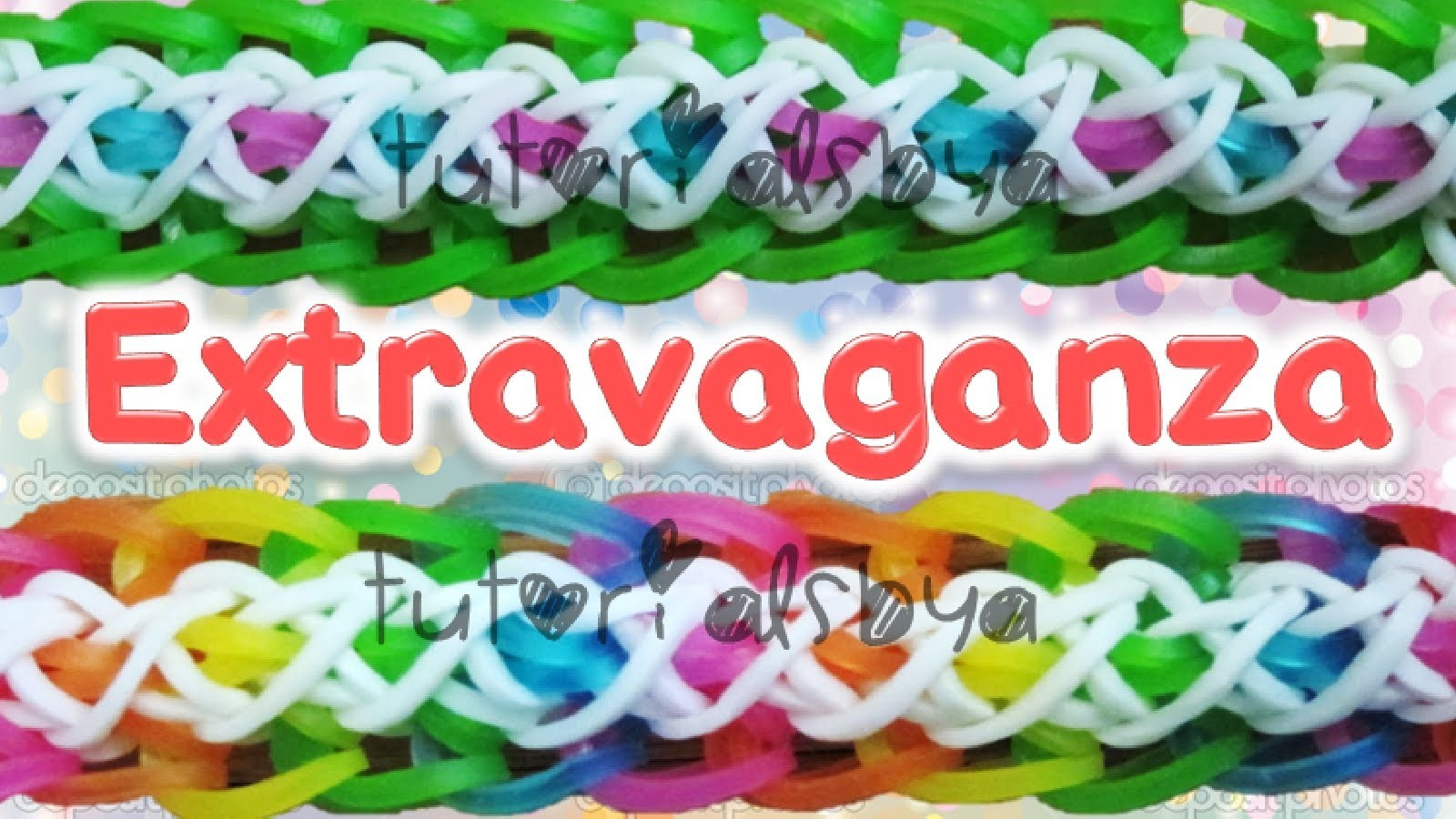NEW Extravaganza Bracelet Rainbow Loom Tutorial