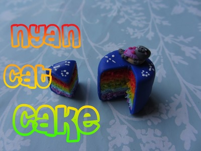 Nyan Cat Cake Tutorial: Polymer Clay :) Requested By Little Surprises and Homemadekawii