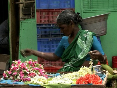 Ornamental flower garland or Gajra making in Chennai