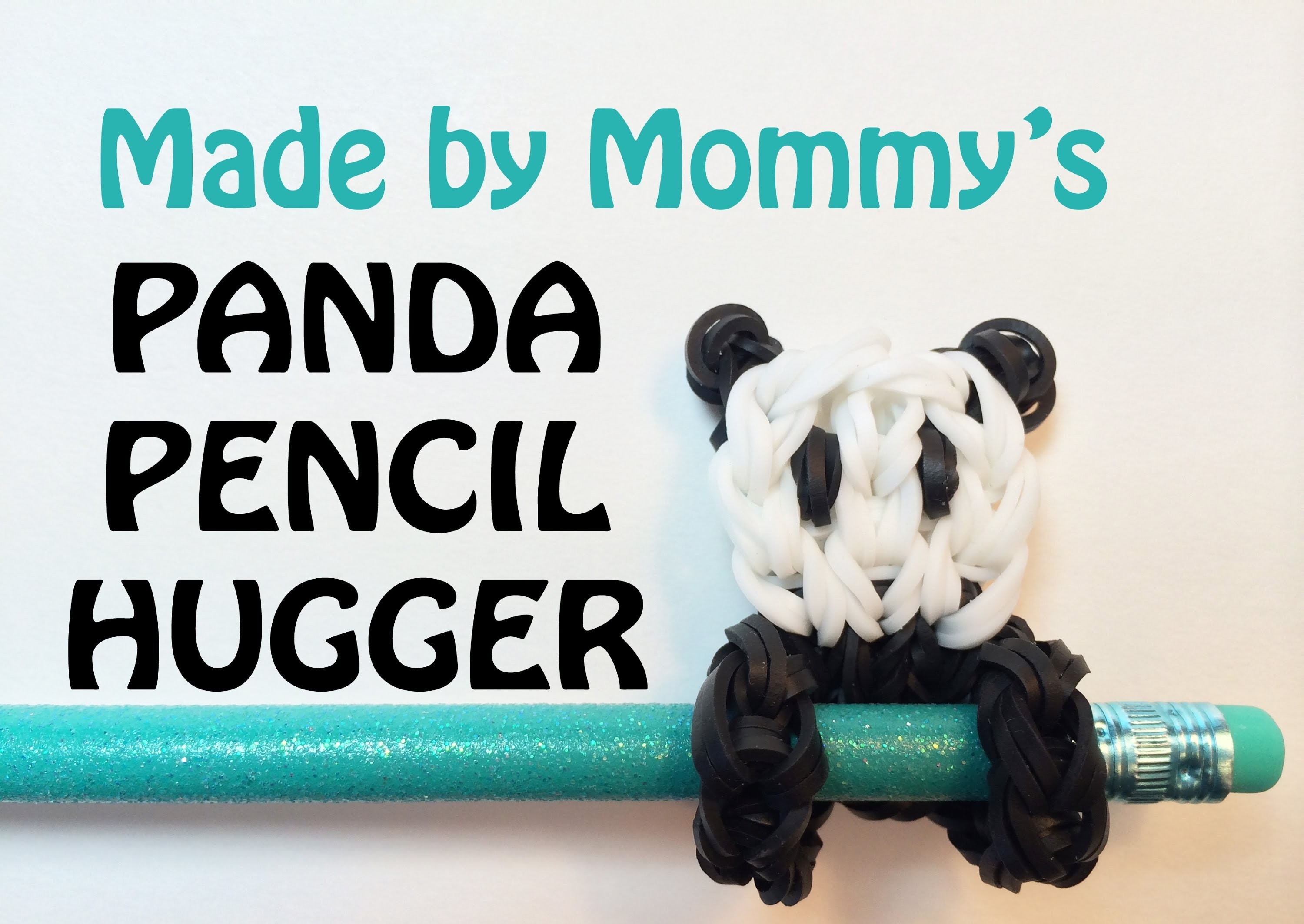 Panda Bear Charm - Rainbow Loom Pencil Hugger #1