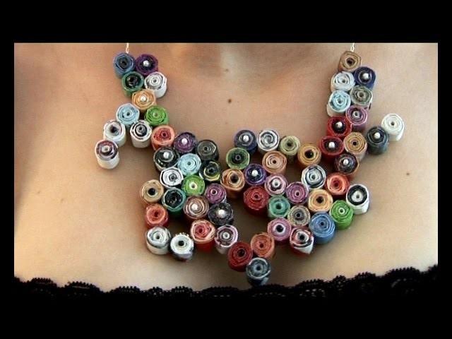Paper necklace - Collier en papier