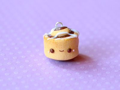 Polymer Clay Cinnamon Roll Charm Tutorial