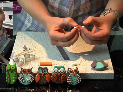 Polymer Clay Tutorial: How to make a Owl Fridge Magnet