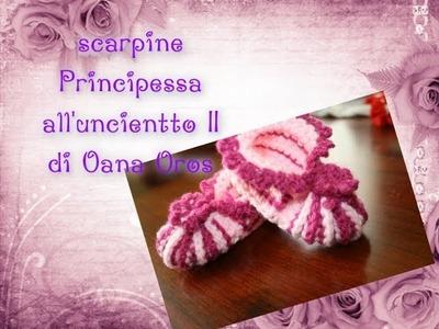 """Scarpine """" Principessa """" all'uncinetto parte seconda"""