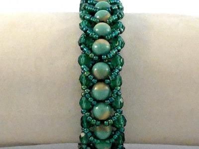 Single- row Flat Spiral Stitch Bracelet