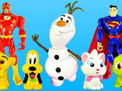 Superman's Magic Pet Shop Episode - Frozen Olaf Play Doh Marvel Disney Toy Superheroes Peppa Pig