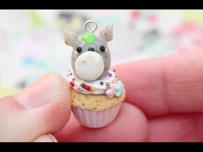 Totoro Cupcake Polymer Clay Tutorial
