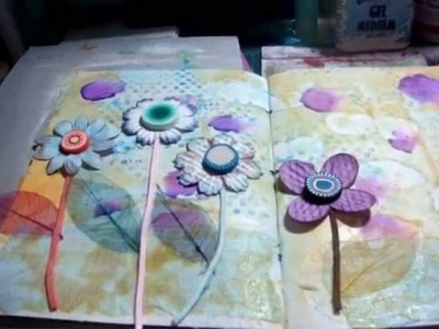 Art journal   using polymer clay part two