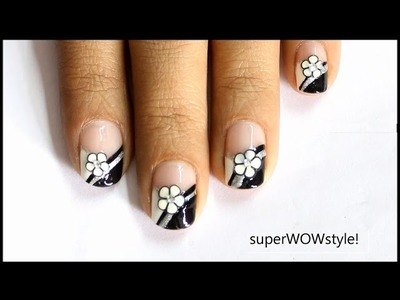 Fimo Flower French Tip | Cute Fimo Cane Nail Design Tutorial
