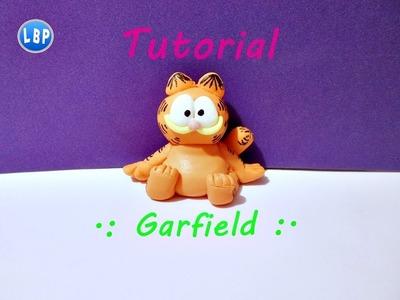Garfield Tutorial facil. polymer clay. pasta flexible. porcelana fria