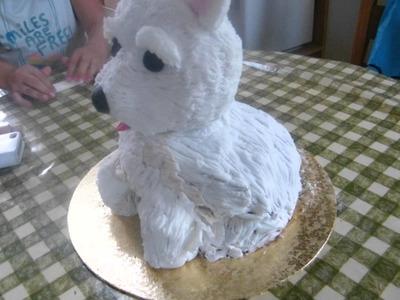 How to Make 3D Westie Cake
