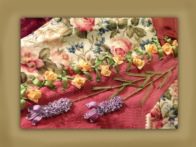 How to make silk ribbon embroidered fat head lavender blooms