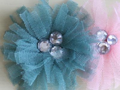 Tu-Tu Tulle Bling Flower Tutorial