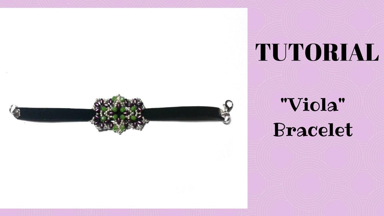 """Tutorial perline: bracciale """"Viola"""" con superduo, cipollotti e rocaille"""