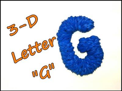 "3-D Letter ""G"" Tutorial by feelinspiffy (Rainbow Loom)"