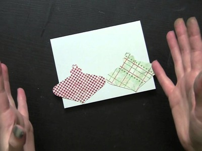 Alter Your Die Cut Images for Different Looks: Easy Christmas Card