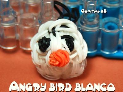 Angry  bird blanco con gomitas. angry bird white rainbow loom
